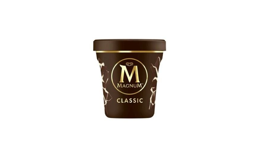 Magnum Creates Ice Cream Tubs Made from Recycled Plastic | 2019-08