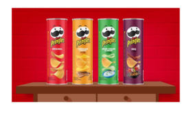 Pringles Highlights Stackability Amid Bright Colors for New Packaging Design