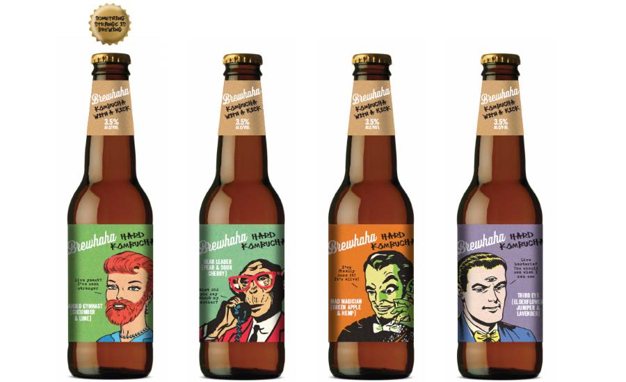 Alcoholic Kombucha Brings Together Branding & Packaging Identity
