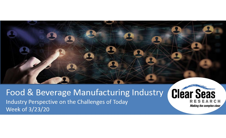 Clear Seas Releases Data From Food, Beverage Manufacturers' Perspective