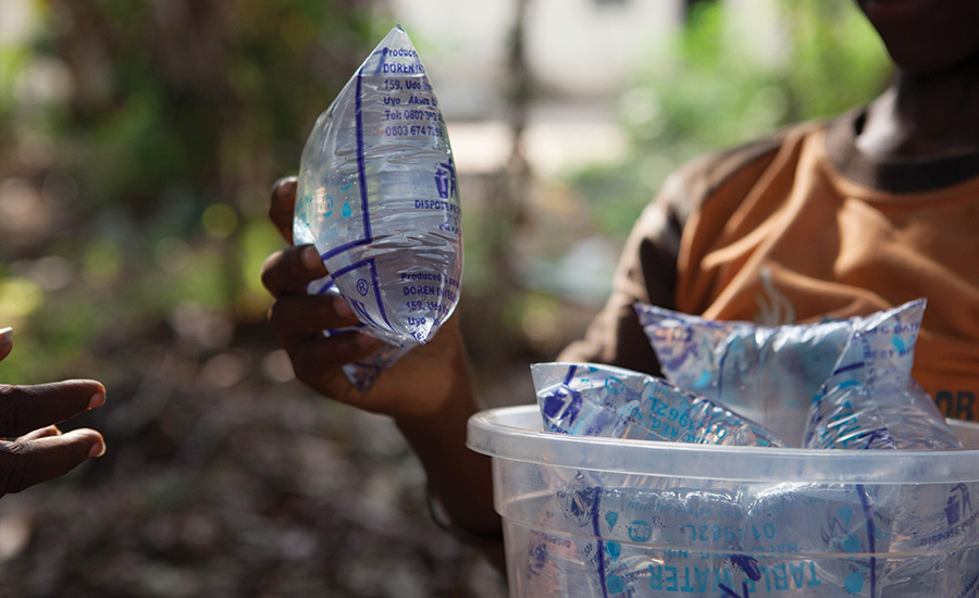 Water Sachet Packaging Found a Recycle Source in West African Country