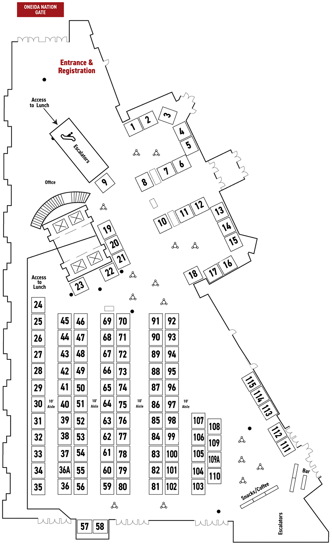 converters expo floor plan
