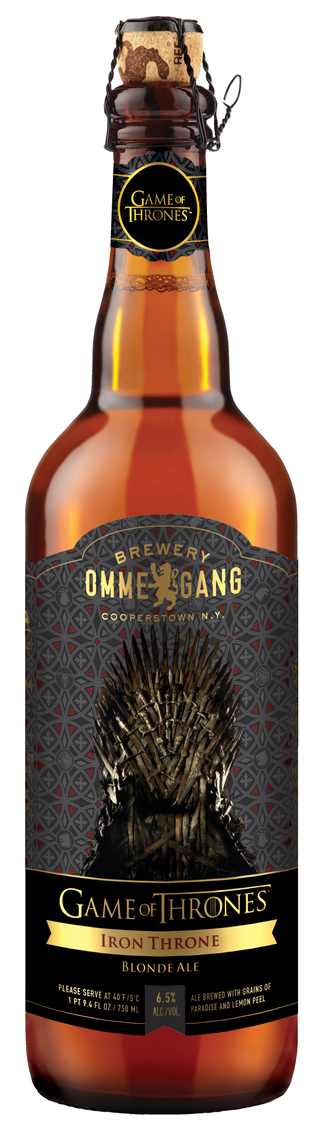 Game of Thrones inspired blonde ale from craft brewery