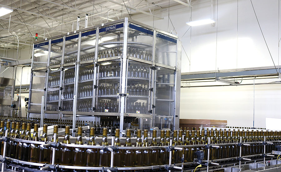 The Wine Group's DYNAC packaging line