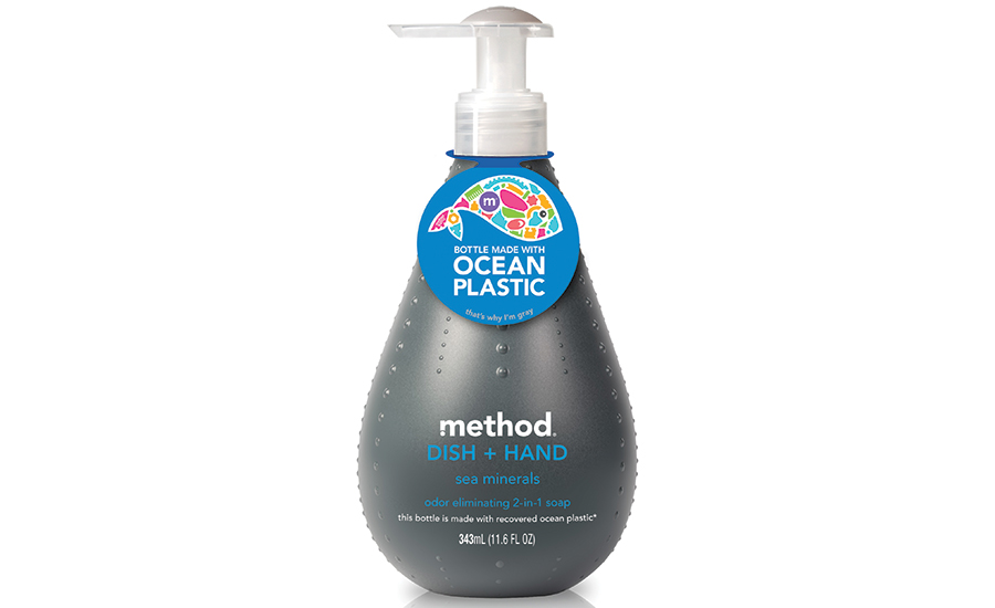 method's ocean plastics product line uses plastic waste in the oceans for packaging