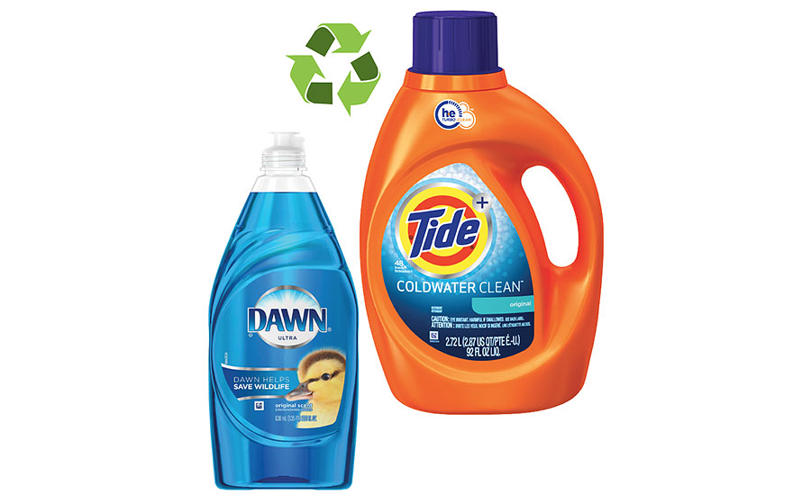 The majority of P&G products are recyclable and many are made from recycled materials