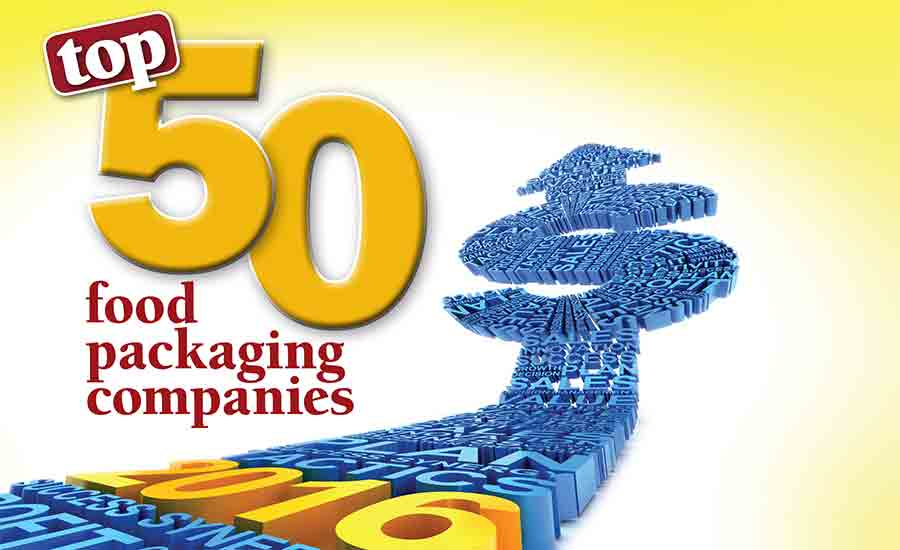 Top 50 food packaging companies of 2016