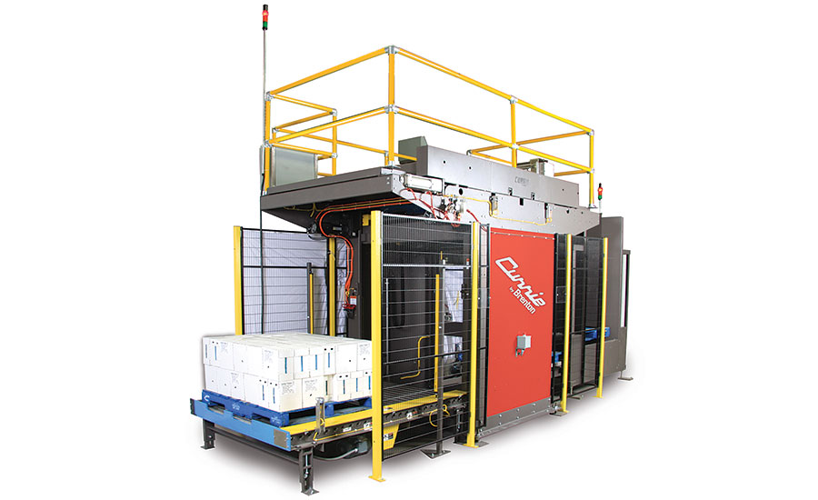 Conventional high-level palletizers come in multiple configurations