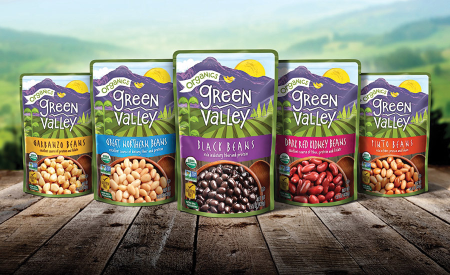 Green Valley's beans come in shelf-stable pouches