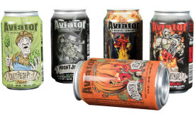 A variety of seasonal and limited run craft beers from Aviator Brewing