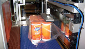 High stacking strength and stability of primary or secondary packaging is idea for film-only shrink bundles when palletized