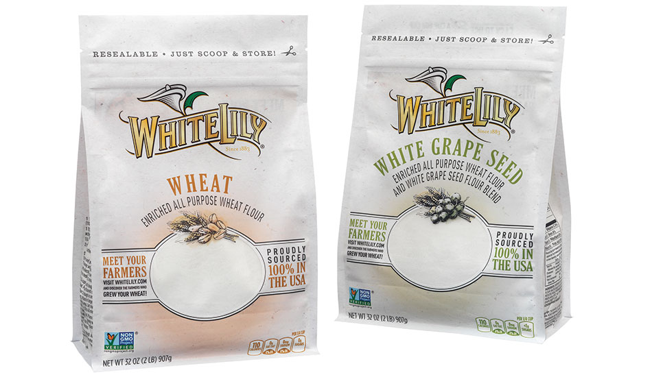 White Lily Flour offers specialty flour in a reclosable box pouch