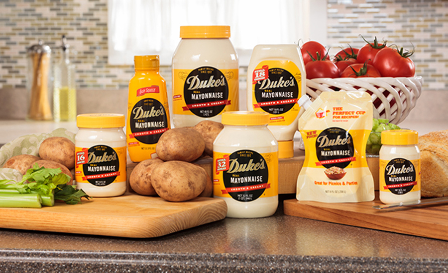 Different packages of Duke's Mayonnaise