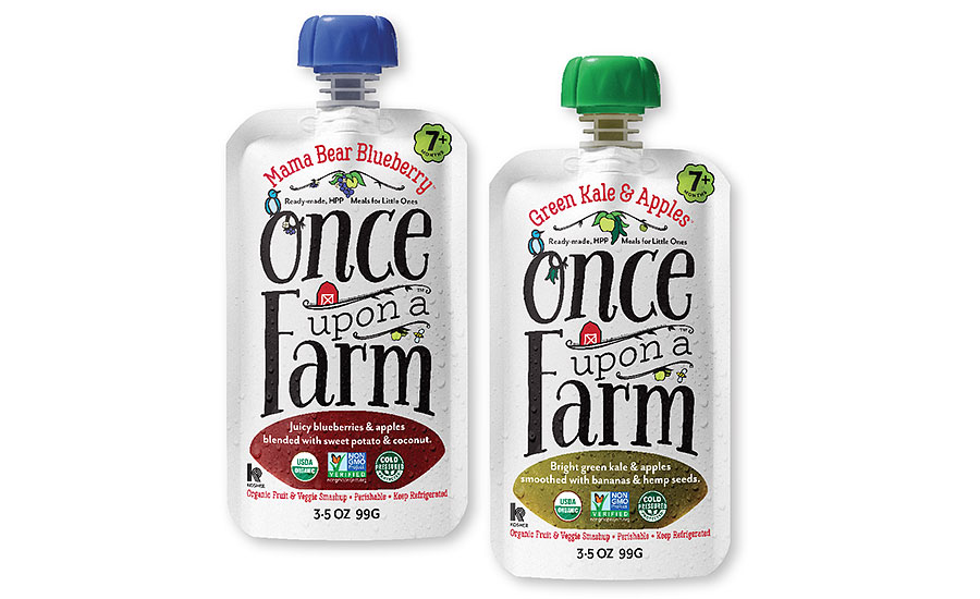 Once Upon a Farm high-pressure processed (HPP) organic baby food