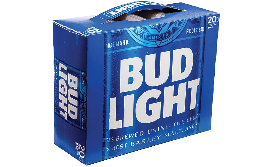 West Rock Paper Handle for Bud Light Carton