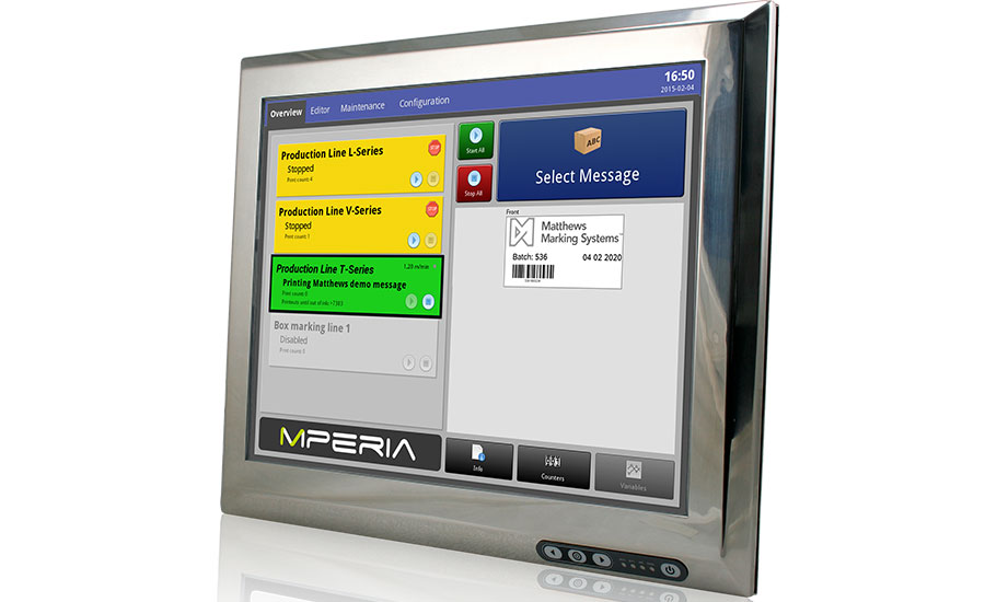 Matthews Marking Systems' unique MPERIA® universal print management platform