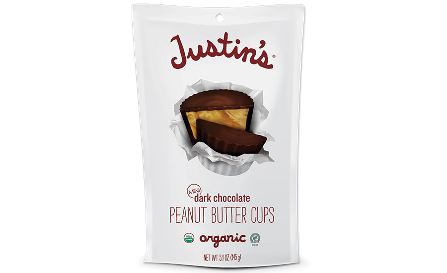 Justin's bagged chocolates in a pouch