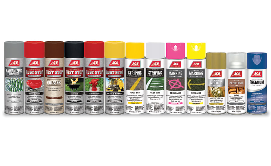ACE Hardware's spray paint can line