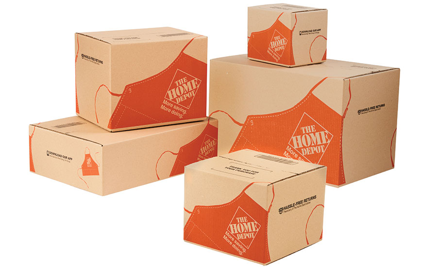 Home Depot brand continuity in shipping packages