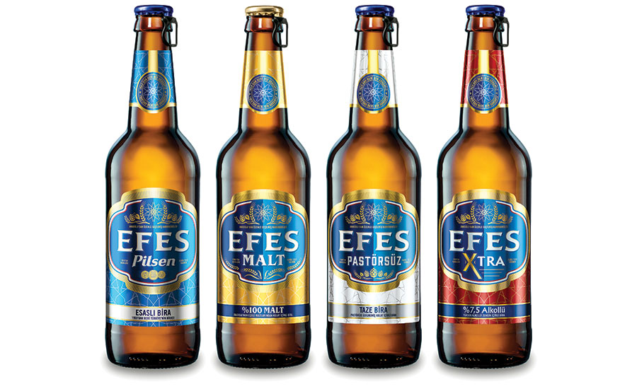 EFES bottle labels