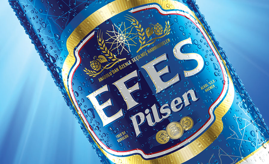 EFES bottle label closeup