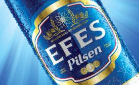 EFES bottle label closeup