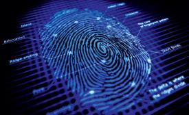 DNA of user fingertips