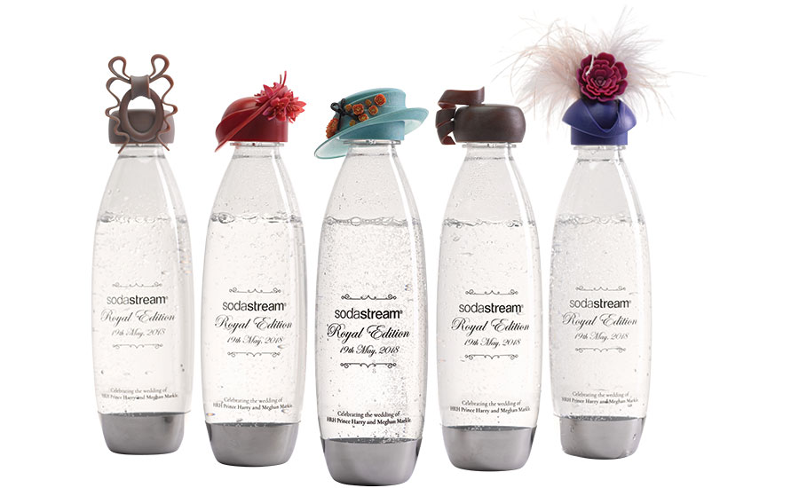 Sparkling water bottles from SodaStream