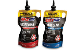 Amsoil's Easy-Pack stand-up pouch for motor oil