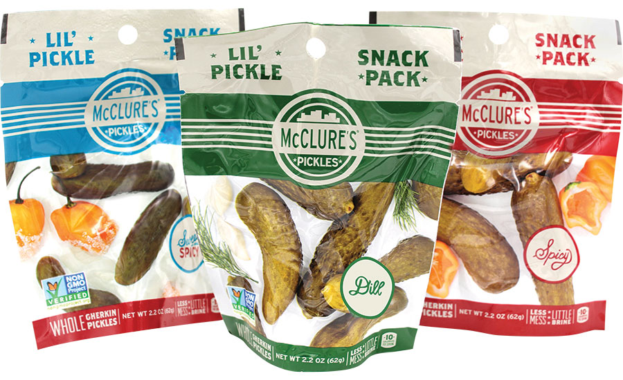 Lil' Pickle Snack Packs resealable pouch
