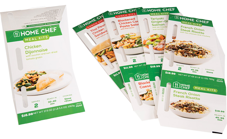 Kroger's Home Chef meal kits Sustainability at Retail Carryout