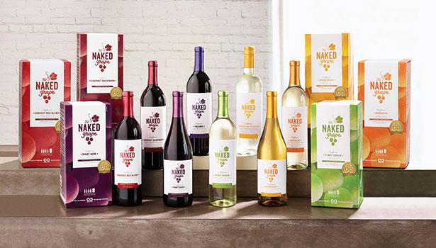 alcohol packaging, Naked wine