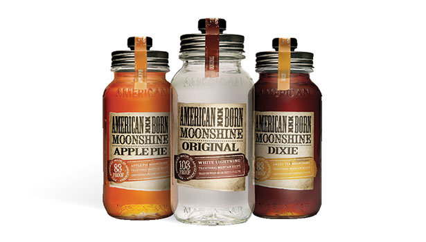 alcohol packaging, moonshine