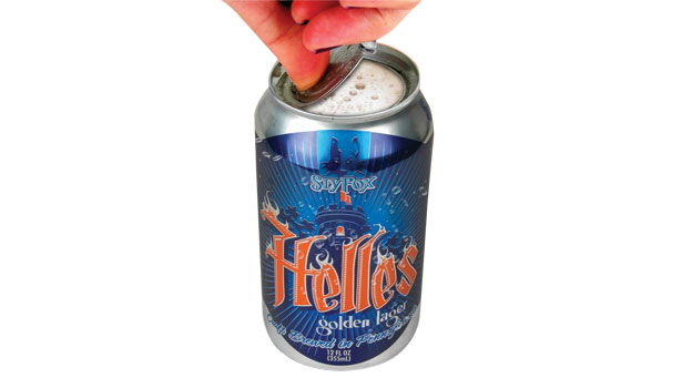 beer can, helles lager