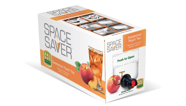 Space Saver aseptic bag in box package