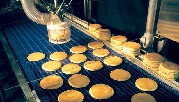 stacking end effector, pancakes