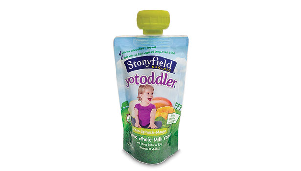 dairy packaging, stonyfield yogurt pouches