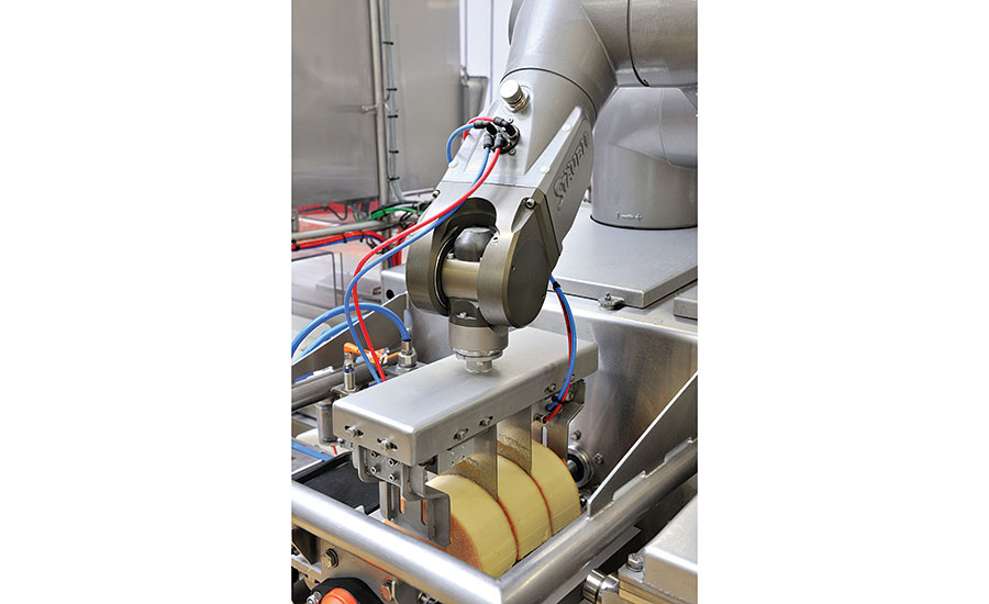 Robots in clean applications handle sensitive items like unpackaged food