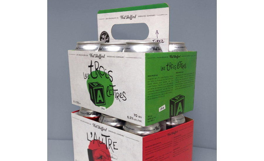 PaperWorks retractable handle beer carton