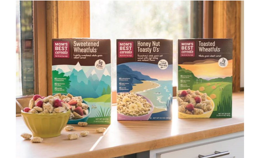 MOMs Cereal refreshed packaging