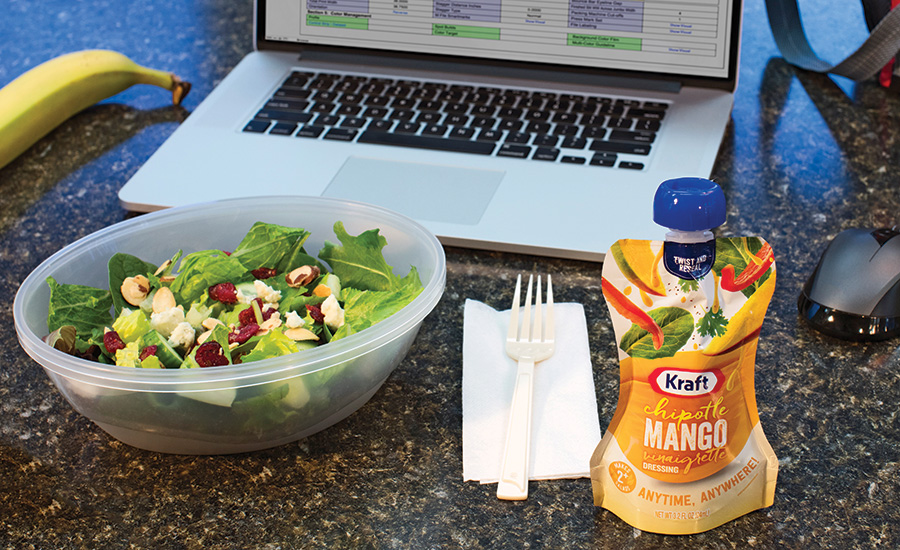 Standup Pouches Add Zest to Salad Dressing Aisle