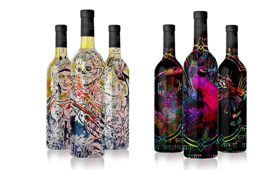 graffiti wine