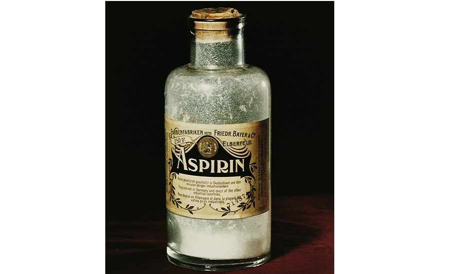 Aspirin used to be supplied in powder form to pharmacies