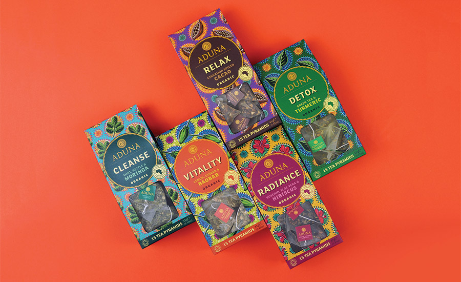SUPER-TEA FLAVOR AND PACKAGING CELEBRATES