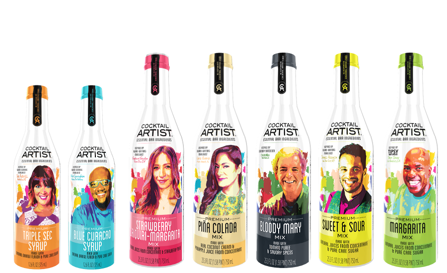 Cocktail Mixers Get Crafty with Warhol-Inspired Image Designs
