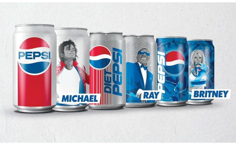 Pepsi Generations Cans Celebrate Music History with Retro