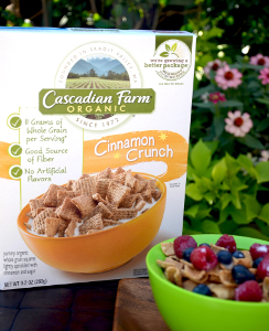 Cascadian Farm's plant-based cereal box liner