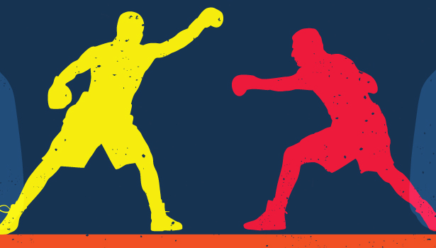 two men boxing graphic