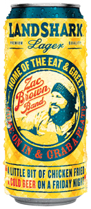 land shark zac brown brand can lager packaging beer