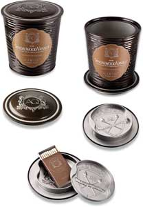 aquiesse candles packaging brown labels sandalwood vanille